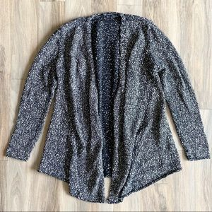 Eileen Fisher Speckled Open Front Cardigan Size M